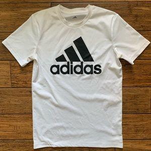 White and Black Adidas Logo Tee Shirt